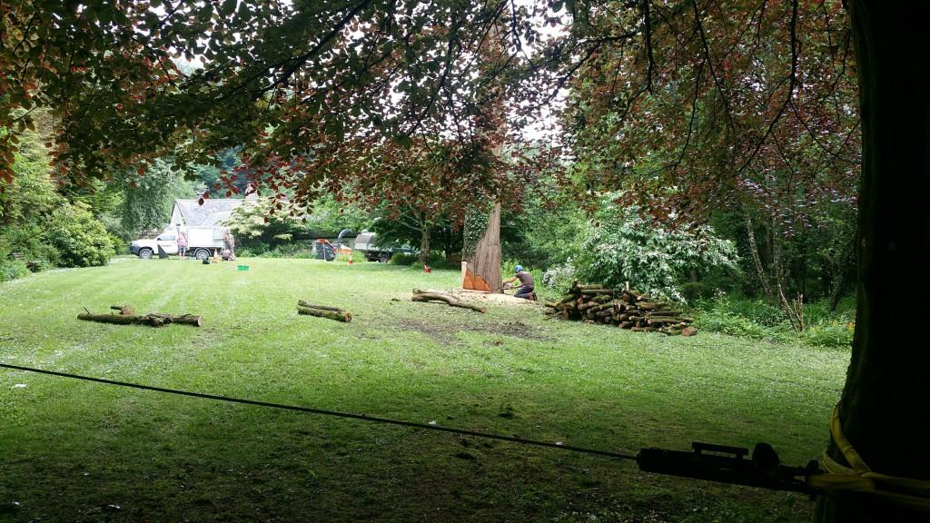 Lining up a big fell at Chambercombe Manor